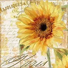 Paper Napkins Floral Tournesol Sunflowers Lunch