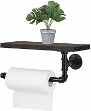 Paper Towel Holder with Shelf, Wall-Mounted Toilet