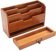 Paper tray document storage timber, wooden filing