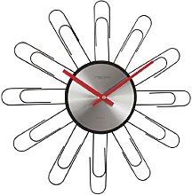 Paperclip Sputnik Wall Clock