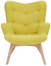 Papillion Contour Fabric Accent Chair