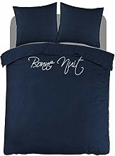 Papillon Bedding Set, Percale, Navy, 140x200/220 +