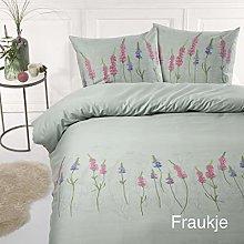 Papillon Bedding Set, Satin, Green, 200x200/220 +