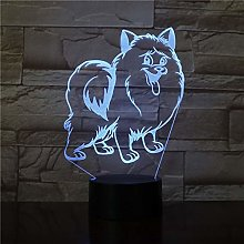 Papillon Puppy Dog RGB 3D Desk Night Light Table