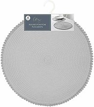 Paradise Home Store Table Placemats Round Pom Pom