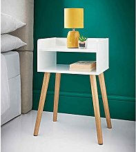 PARADISE HOME STORE WHITE GLOSS WOODEN BEDSIDE