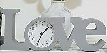 Paradise-HomeStore Grey Love Clock- Stunning &