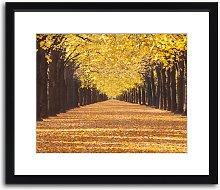 Paris Autumn Framed Print & Mount, 82 x 97cm,