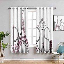 Paris City Decor Collection Premium Blackout