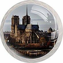 Paris Landmark Drawer Pulls and Knobs Crystal