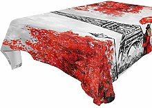 Paris Oil Painting Tablecloth for Home Decoration,