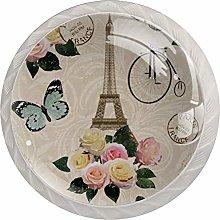 Paris Vintage Glass Cabinet Knobs 30MM Cupboard