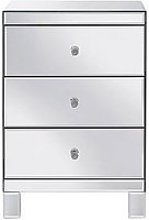 Parisian Mirrored 3 Drawer Ready Assembled Bedside