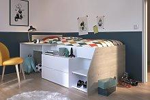 Parisot European Single Cabin Bed and Desk - White