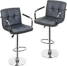 paritariny Bar Stools, 2PCS Gray Bar Chairs