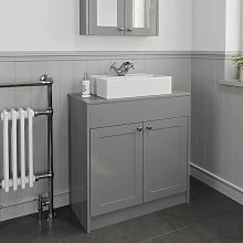 Park Lane - 800mm Grey Traditional Vanity Unit