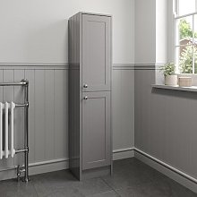 Park Lane Grey Traditional Tall Bathroom Cabinet