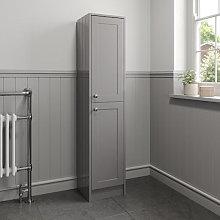 Park Lane Grey Traditional Tall Bathroom Cabinet