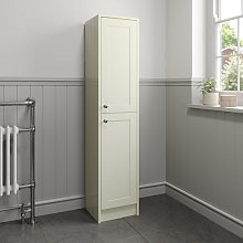 Park Lane Ivory Traditional Tall Bathroom Cabinet
