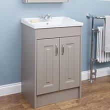 Park Lane Taupe Grey Floor Standing Bathroom Sink