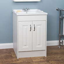 Park Lane White Floor Standing Bathroom Sink