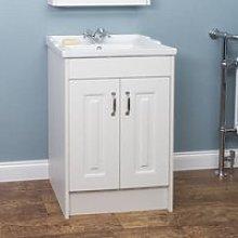 Park Lane White Floor Standing Bathroom Sink