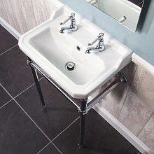 Park Lane Windsor 560mm 2 Tap Hole  Bathroom Sink and Wash Stand