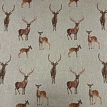 Parkland Stags Linen/Cotton 140cm Wide Designer
