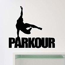 Parkour Wall Sticker Street Tracer Sports Vinyl