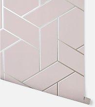 Parquet Geo Pink & Rose Wallpaper 695500 - Arthouse