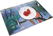 Parrot Beautiful Art Painting Hd Hd Table mat 4