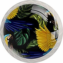 Parrot Pattern Drawer Round Knobs Cabinet Pull