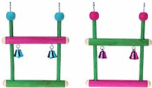 Parrot Perch Toys Birds Swing Wood Parakeet