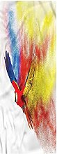 Parrot Runner Rug, 2'x3', Parrot with