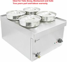 Parry Electric 4 Pot Wet Heat Bain Marie Food