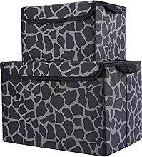 Parshall 2PCS Storage boxes Clamshell Folding