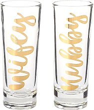 Party Shot Glasses - Hubby Wifey Couple Shot