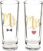 Party Shot Glasses - Mr Mrs Couple Shot Glasses