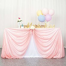 Party Tablecloth Pink Sequin Tablecloth 50x72-Inch