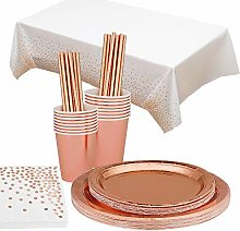 Party Tableware Rose Gold Foil Party Supplies
