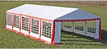 Party Tent 10 x 5 m Red VD06755 - Hommoo
