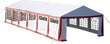 Party Tent 12 x 6 m Red VD06757 - Hommoo