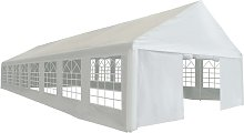 Party Tent PE 6x16 m White VD39113 - Hommoo