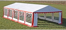 Party Tent Top and Side Panels 10 x 5 m Red &