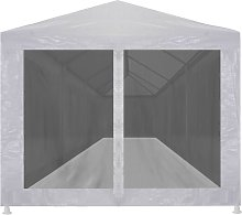 Party Tent with 10 Mesh Sidewalls 12x3 m QAH29264