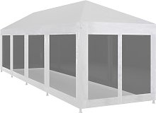 Party Tent with 10 Mesh Sidewalls 12x3 m VDTD29264