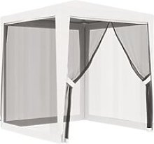 Party Tent with 4 Mesh Sidewalls 2x2 m White