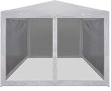 Party Tent with 4 Mesh Sidewalls 3x3 m QAH29260 -