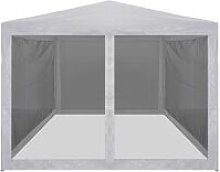 Party Tent with 4 Mesh Sidewalls 4x3 m QAH29261 -