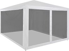 Party Tent with 4 Mesh Sidewalls 4x3 m VDTD29261 -